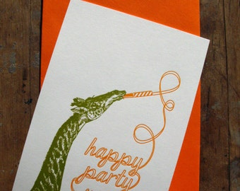 Happy party year - Letterpressed card