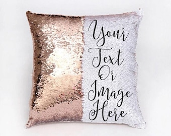 Custom Sequin Pillow, Funny Mermaid Pillow, Hidden Message Pillow, Custom Pillow, Stocking Stuffer, Christmas Gifts, Throw Pillows