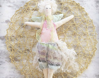 Handmade Cloth Fairy Doll about 34 cm tall by NoosaForestFairies