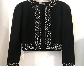 Vintage evening jacket with pearls