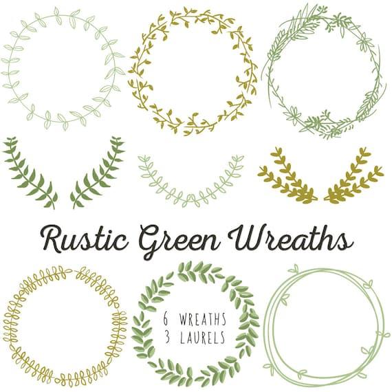 laurel wreath clip art instant download diy wedding rh etsy com laurel wreath clipart free laurel wreath clipart free
