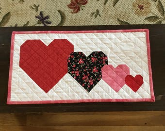 I Heart You Valentine Table Topper or Table Runner