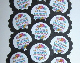 Bingo Cupcake Toppers/Party Picks Item #1718