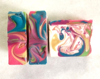 Soap Rainbow Sherbet Cold Process Soap, Artisan Soap, Handcrafted Soap