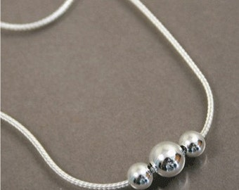 Silver Spheres Necklace