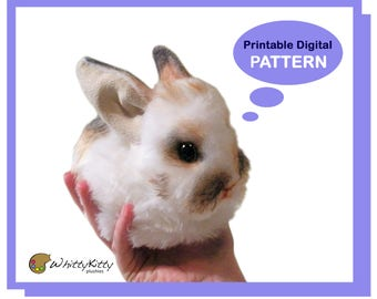 PATTERN - Blob Bunny Plushie