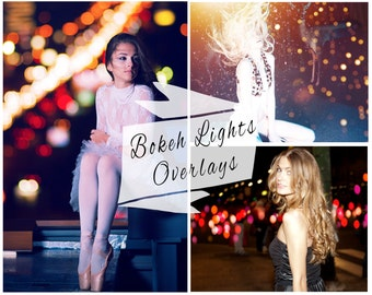 Bokeh Photoshop Overlays, Bokeh, City Lights, Photoshop Overlays, Digital Backdrop Photo Overlays, Photoshop Action, Instant Download