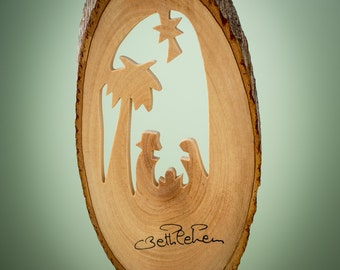 B11/Olive wood ornament/ hand carved Christmas tree ornament/Bethlehem/Holy land
