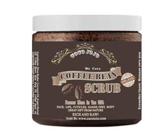 Arabica Coffee Bean Scrub - Exfoliant for Face & Skin 16 OZ Container