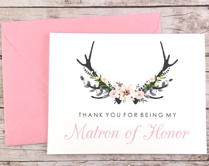 Thank You For Being My Matron of Honor Card (FPS0024)