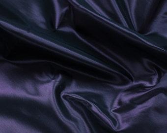 Black Purple 60'' Iridescent Two Tone Taffeta Acetate Taffeta Fabric by the Yard - Style 3051