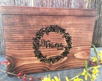 Recipe Box, Recipe Holder, Kitchen Organizer, Wedding Gift, Housewarming Gift, Christmas Gift