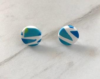 Stud earrings - 'Kaleidoscope Eyes'