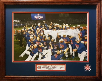 Chicago Cubs Major League Baseball Champions 16x20 inch custom framed picture