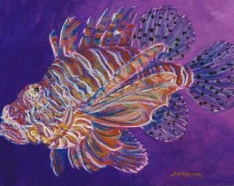 Lion Fish - matted fine art photo print