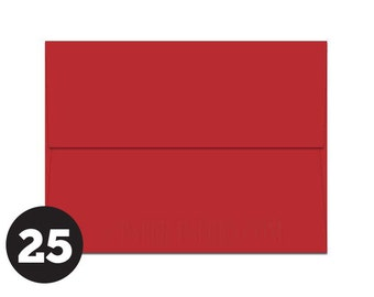 A2 Red Envelopes for RSVP and Announcements, Photos and Note Cards, Bright Red, Rocket Red, Pack of 25