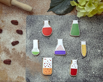 Chemistry Flasks Cookie Cutters | Cookie and Fondant Science Cutters