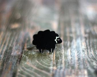 Black Sheep Ring,Plexiglass Jewelry,Lasercut Acrylic,Gifts under 25