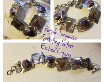 Purple Turquoise Bracelet