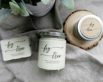 fig tree - hand poured soy candle