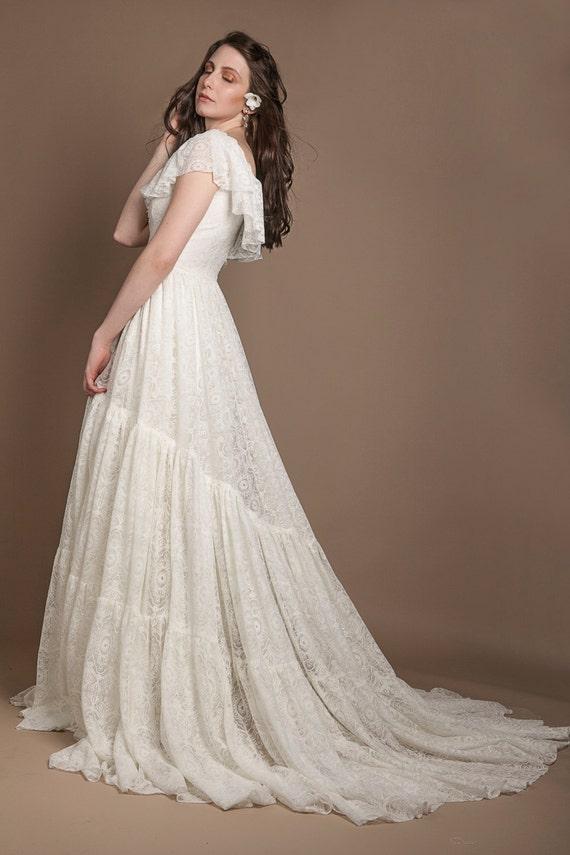 Edwardian style wedding dress edwardian wedding gown 1910s