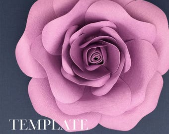 Blooming Rose TEMPLATE SVG & PDF (Digital file only)