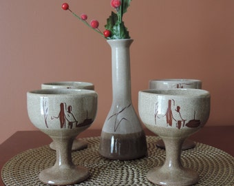 POTTERY QUEBEC, Canada, cups, wine glasses
