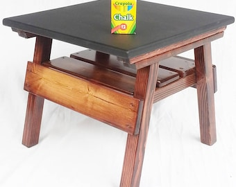 Childrens' Furniture Chalkboard Game Table Activity Table Kids Table Toddlers Table Boys Room or Girls Room