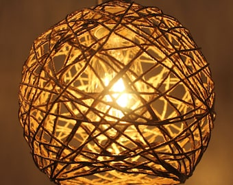 Gold Twine Pendant Light with Free Bulb!  Free Shipping