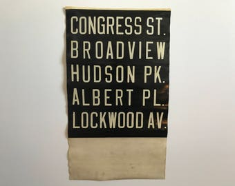 New York City Vintage Bus Scroll 1950's #3
