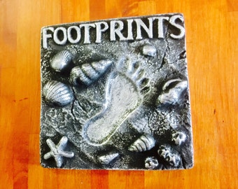 Footprints, Feature Tile/Wall Plaque/Paper Weight