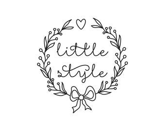 Custom Logo Design // Calligraphy Logo // Wreath // Small Business Logo // Handmade Clothing For Kids