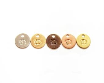 Jewelry Tags Sample Pack of 4 - Circular Custom Stamped