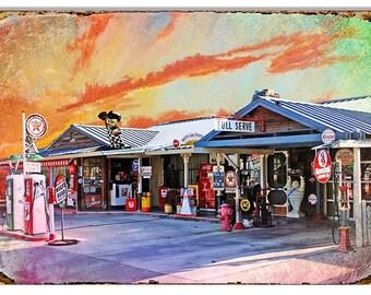 Original Artwork Gas Station Sign 12''x18'' RG7686