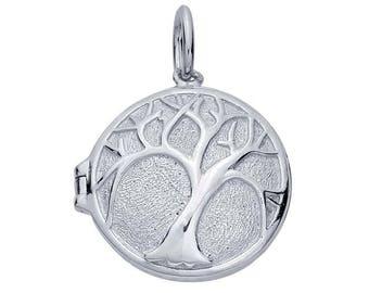 Sterling Silver, Locket Pendant, Large Locket, Tree of Life Pendant Locket, Silver Locket, Tree Locket, Family Tree Pendant, Tree Jewelry