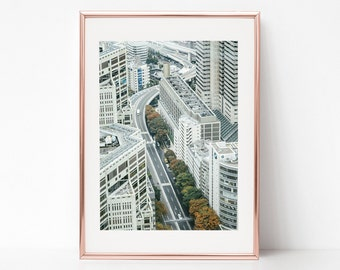 Tokyo Aerial View, Japan, Download Digital Photography, Print, Downloadable Image, Printable Art