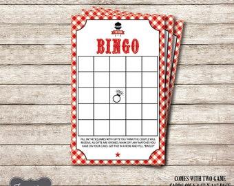 Bridal Bingo, I Do BBQ Bingo, Printable Bridal Shower Games, BBQ Shower Games, Instant Download PDF Files