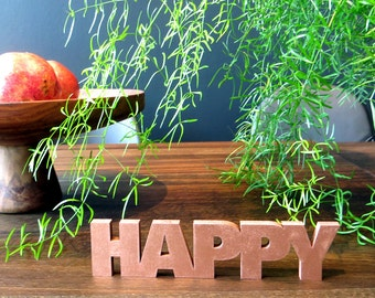 HAPPY - wood lettering