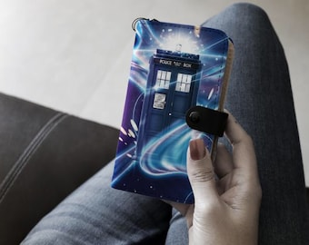 Tardis through space and time phone cover