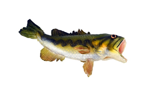 8 Inch Medium Artificial Bass Fish Figure   Floral Pieces Or Home Decor    Fatheru0027s Day   Fisherman Lake House Home Decor From BandJFlorist On Etsy  Studio