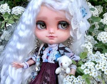 Melani- Icy Custom. Custom Doll. OOAK Blythe doll sister by NexbetDolls
