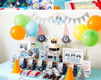 DIGITAL FILES Party Kit: Monster Truck Decorations Party Kit, Monster Truck Party Decorations, Monster Truck Birthday