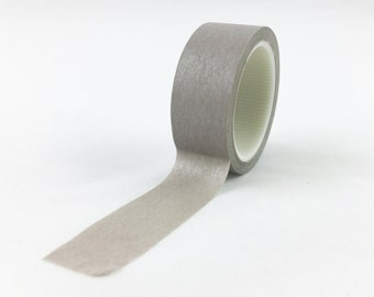 Solid Light Grey Washi Tape // 15mm // Paper Tape // BBB Crafting Supplies // CR-W-L088