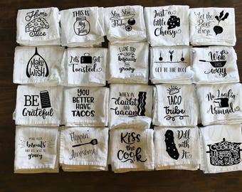 Kitchen Towel - Funny Towel - Utensils - Tea Towel - Flour Sack Towel