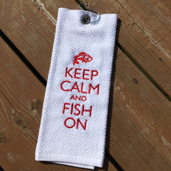 Personalized Fishing Towel Cotton Golf Towel Father's