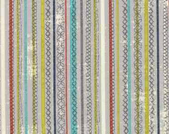 Moda - Garden Project by Tim and Beck Stitched Stripe in Pebble 39554-12