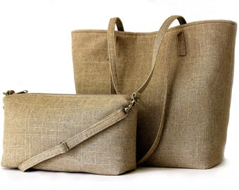 Tote Pattern Sewing Pattern, Tote Bag with Crossbodu Bag, DIY Linen Tote,Bags and Totes, Crossbody,Beach Bag Pattern,