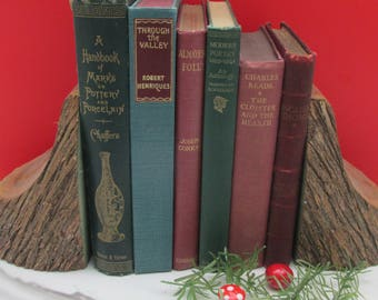 Festive Colours -Set of Vintage Christmas Colours Decorative Books - Instant Library - Old Book Collection
