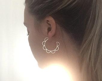 Sterling Silver Hoop Earrings, Big Hoop Earrings, Big Silver Hoops