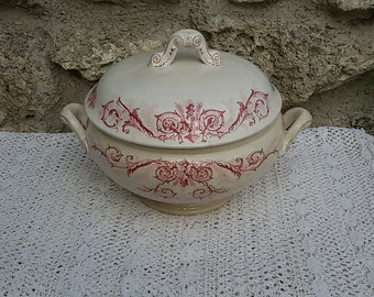 Soup tureen Luneville 19th KG / Antique French